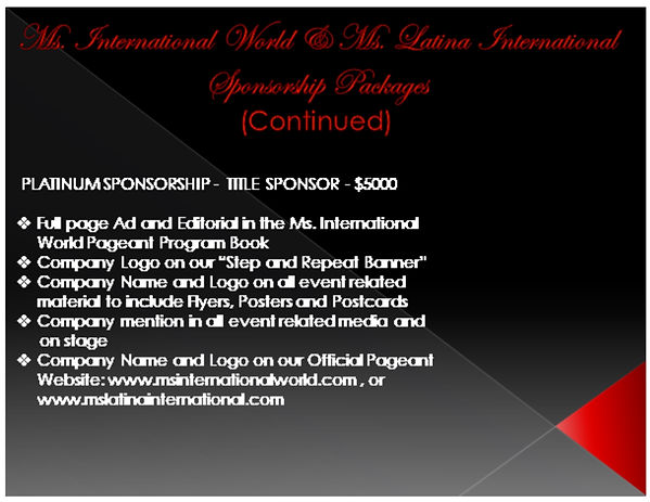 Ms International World Presentation Page