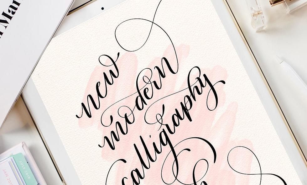 Set of 2 New Modern Calligraphy Procreate Brush