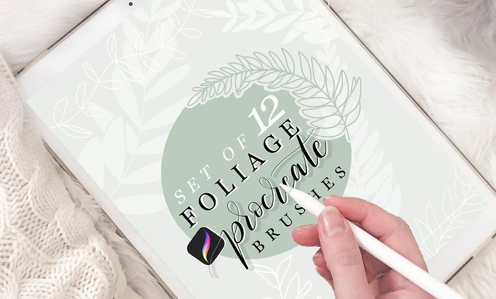 Set of 12 Foliage Procreate Brushes