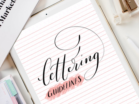 Download my Free Lettering Guidelines