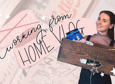 Working from Home - Hand Lettering on Canvas
