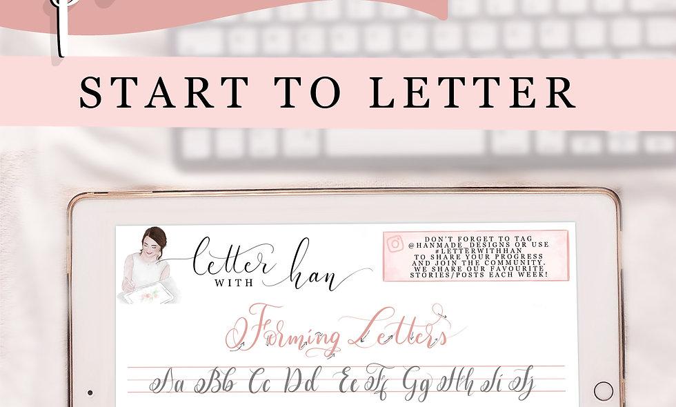 Start to Letter like Han'made Designs