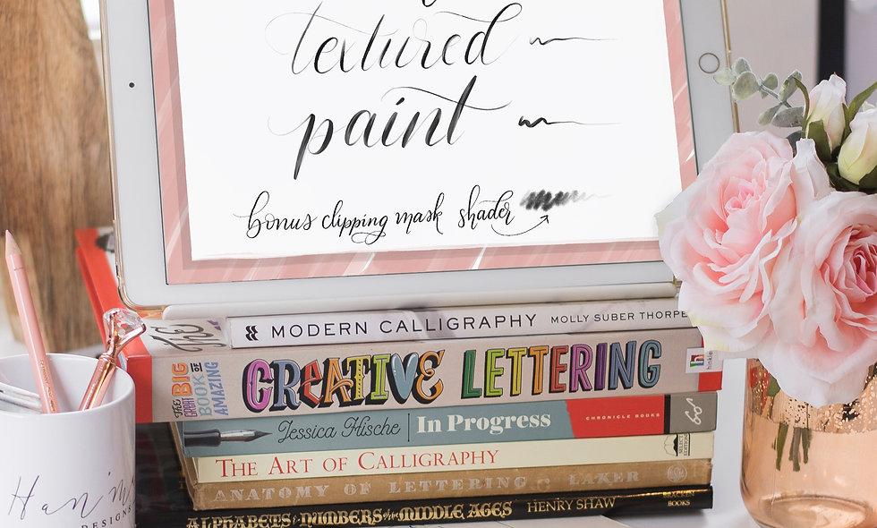 Modern Calligraphy Set of 3 Procreate Brushes