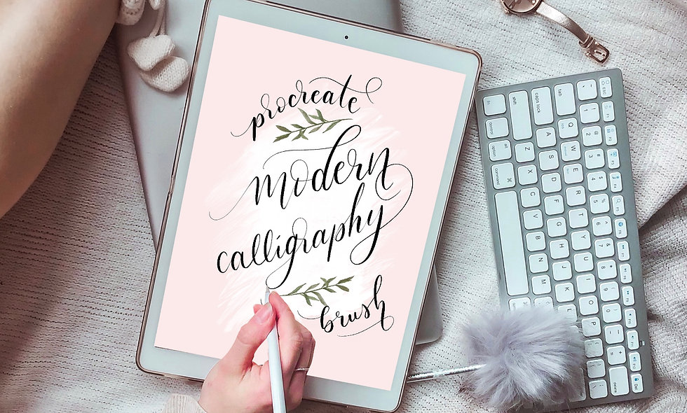 Modern Calligraphy Procreate Brush