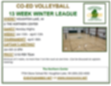 Winter Co Ed VB League Winter Flier 2020