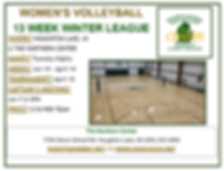 Winter Women's Volleyball League Flier 2