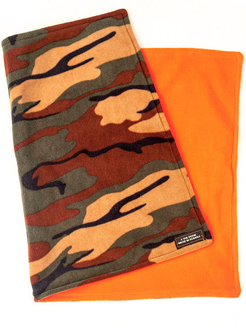 SMALL Double Blanket - CAMO/ORANGE