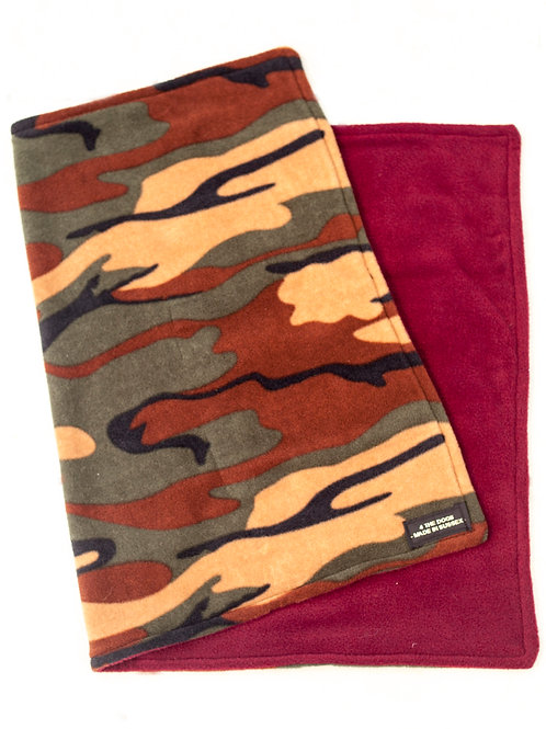 LARGE Double Blanket - CAMO/WINE