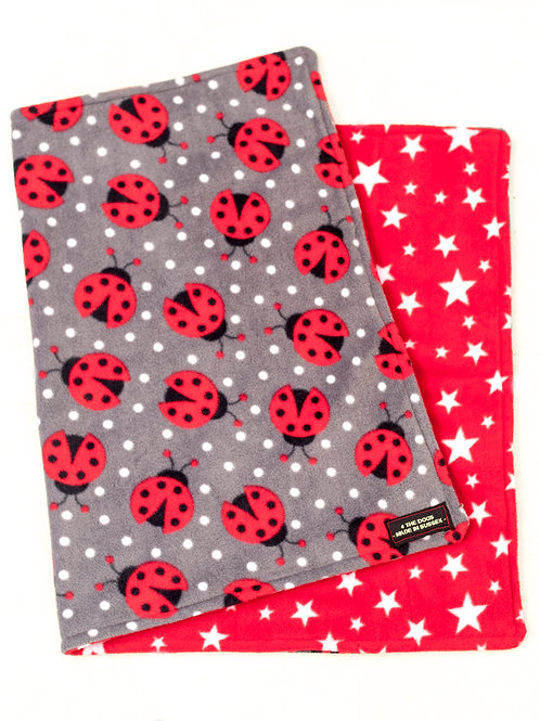 Double Sided Blanket - LADYBUG/RED STAR
