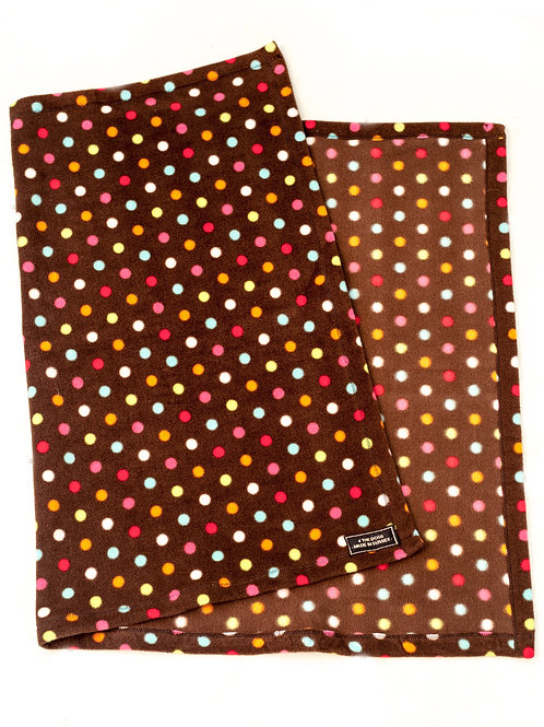 Single Sided Blanket - BROWN SPOTS