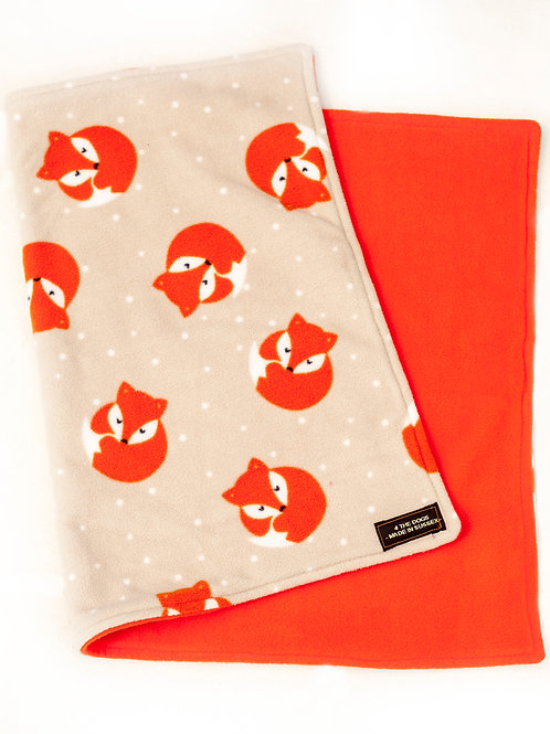 SMALL Double Blanket - FOX/ORANGE