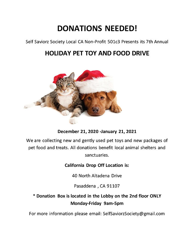 Holiday Pet Toy and Food Drive for onlin