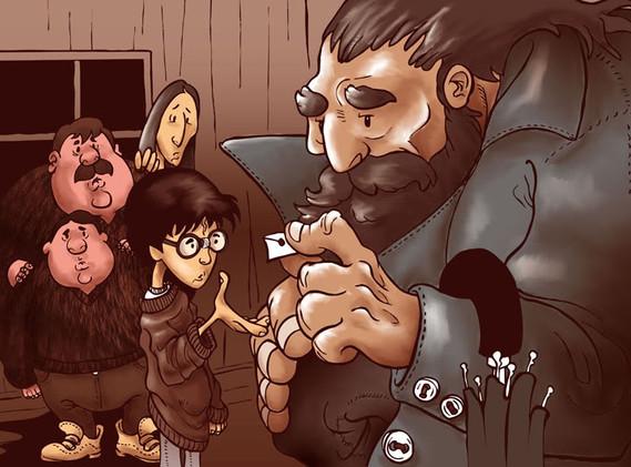 Harry e Hagrid