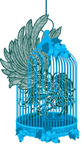 anjo na gaiola - ilustra 1