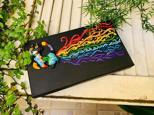 "Caixa para bijouterias ""Rainbow Cat"""