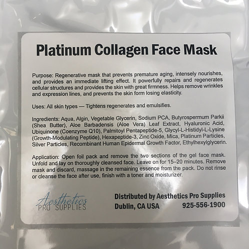 Platinum Collagen Mask NEW