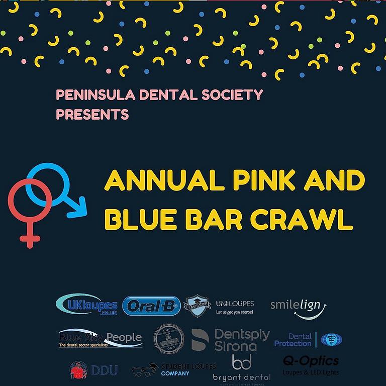 Pink vs Blue Bar Crawl