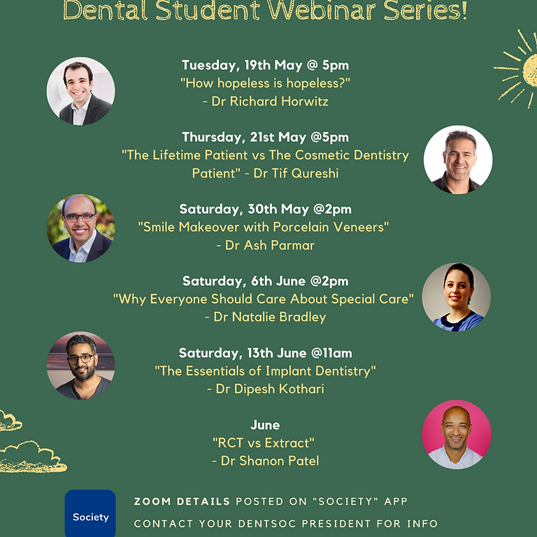 Dental Student Webinar Series