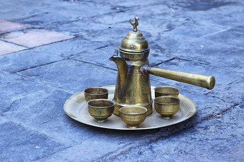 Koperen Arabische koffieset