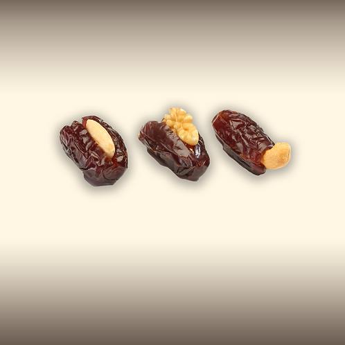 Khudri dadels met gemengde noten