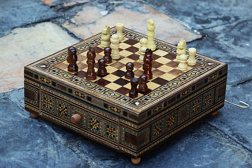 Mozaiek schaakbord 22 x 22 cm