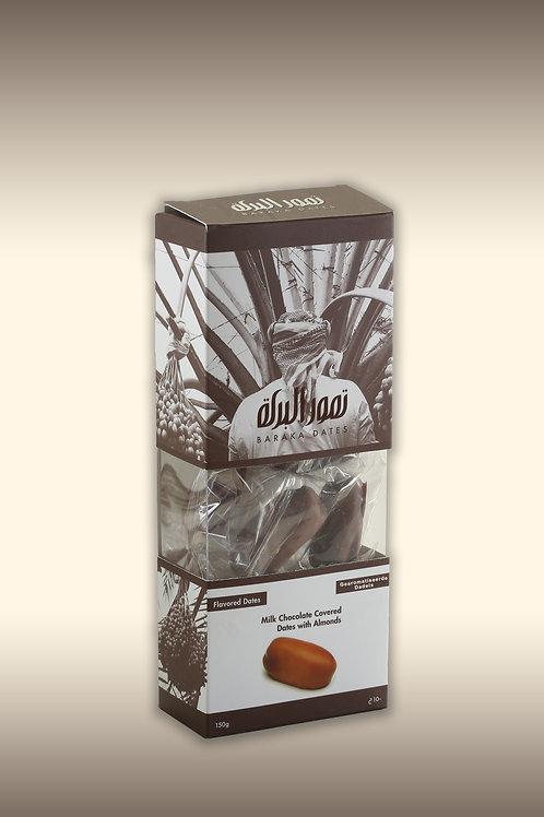Khudri melkchocolade met amandel