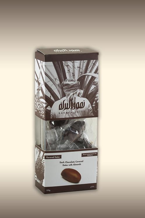 Khudri pure chocolade met amandel