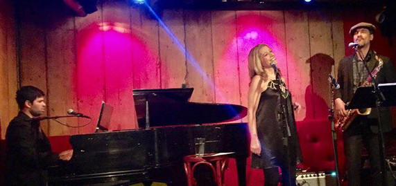 with Eric Finland (piano) and Tony Jarvis (sax), Rockwood Music Hall