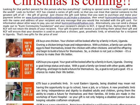 Christmas is coming.