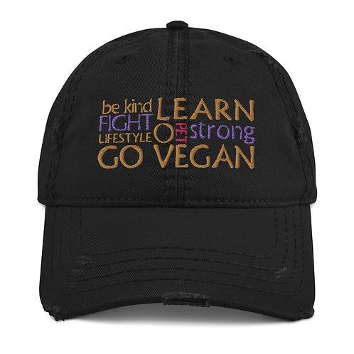 Go Vegan / Distrtessed Hat