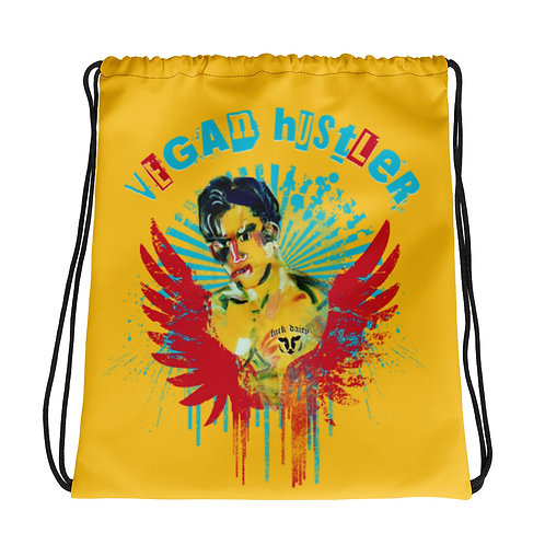 "All-Over Print Drawstring Bag  ""Vegan Hustler"" Vegan with an attitude"