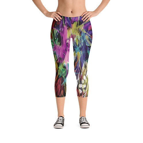 "Capri Leggings ""Punk""  from my Art wear original collections."