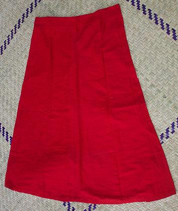 Falda para usar con sari