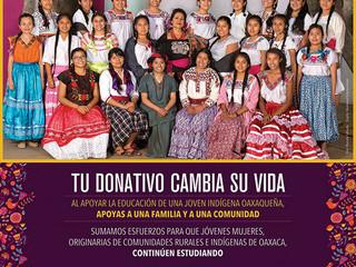 Inicia campaña para apoyar la educación de jóvenes oaxaqueñas