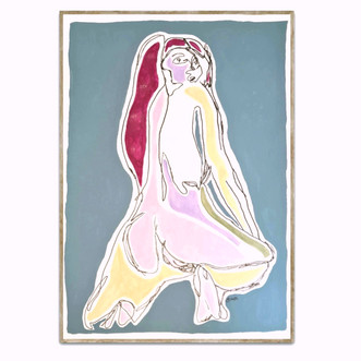 THE GIRL WITH THE MAGENTA HAIR/$1400 AUD