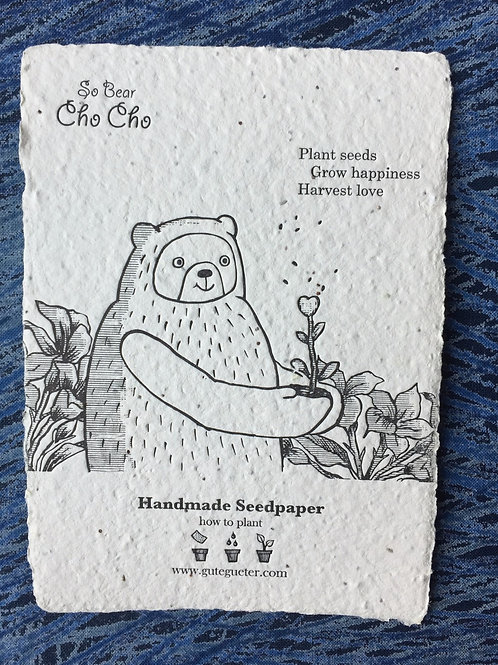 """Cho Cho - Plant Seed, Grow Happiness, Harvest Love"" Seed Card"