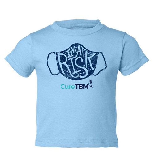 """I'm At Risk"" Light Blue Toddler Shirt"