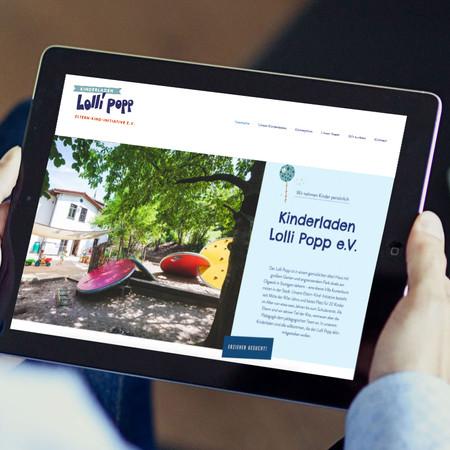 Website Kindergarten Lolli Popp