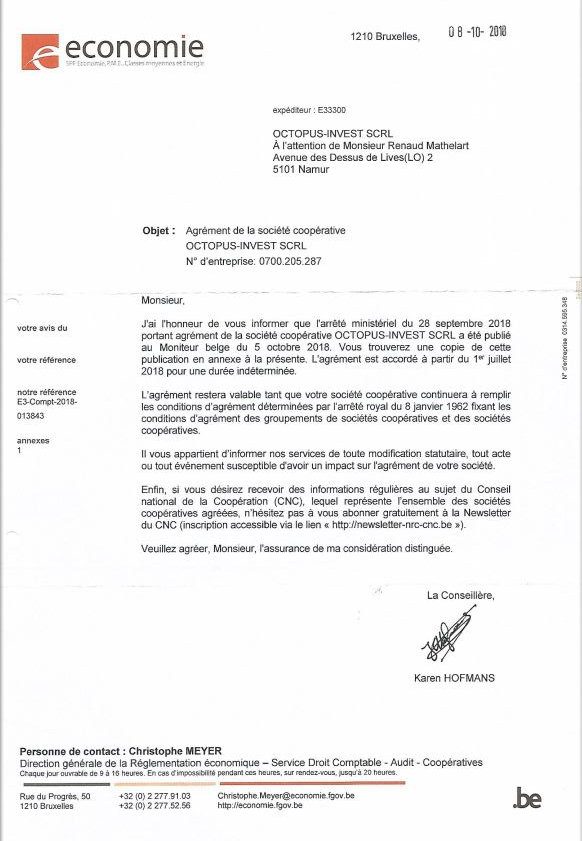 Coopérative Immobilière | Octopus Invest | Wallonie