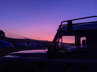 Fran at sunset