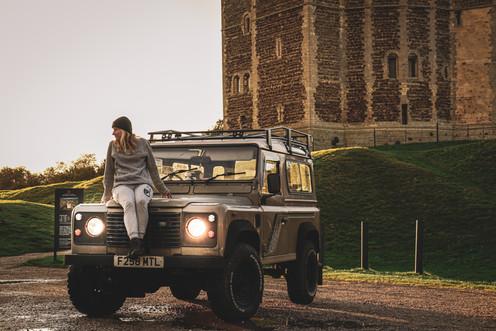 Bela and Fran at Orford Castle