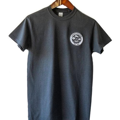 Embroidered LandyCampers T-Shirt - Black