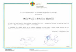 certificado maestria