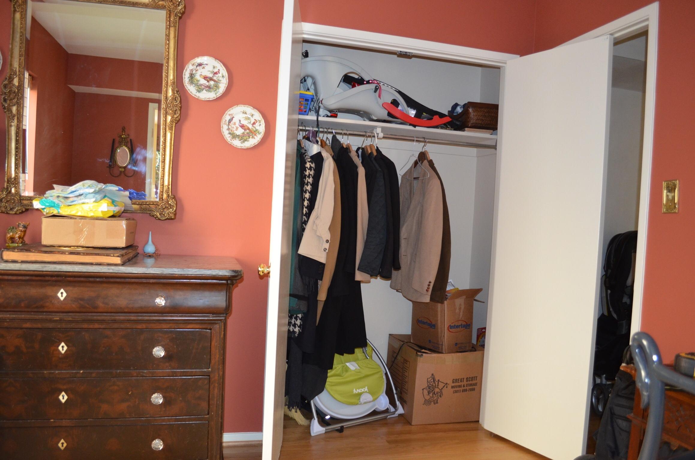 Closet becomes a Window Seat
