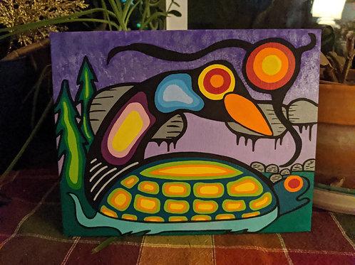 Loon & Turtle 8x11