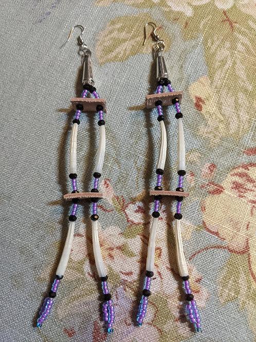Dentalium Shell Earrings Style #2