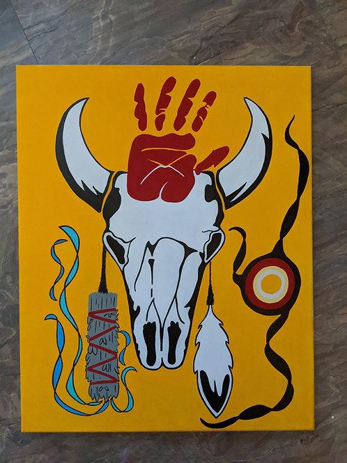 """16X20 """"Sacred"""" Arclyic Painting"""