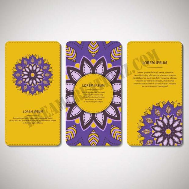 set-ornamental-cards-flyers-with-mandala