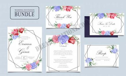 wedding-invitation-card-bundle-with-wate