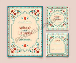 wedding-stationery-indian-couple-with-fl